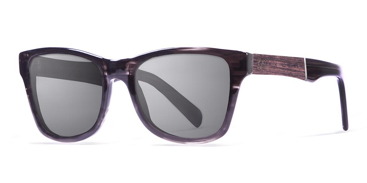 LONDON demy grey with ELM burl  polarized  sunglasses Kauoptics side
