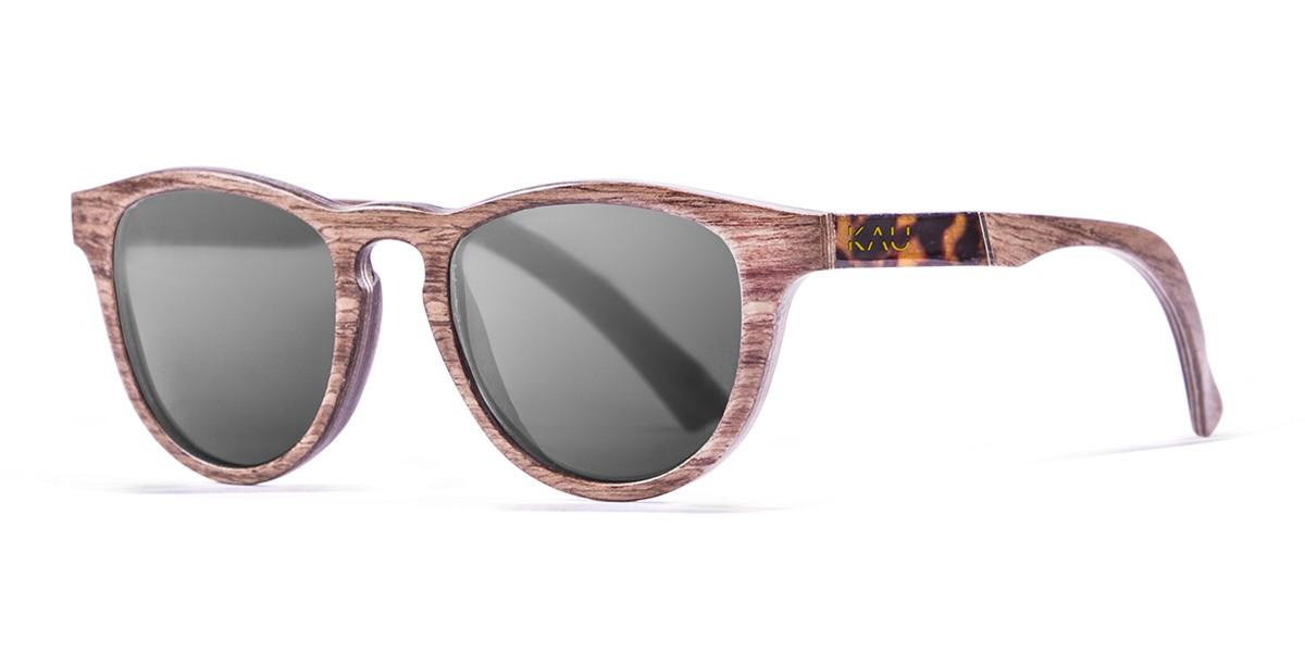 DONOSTIA natural wooden frame  polarized  sunglasses Kauoptics front