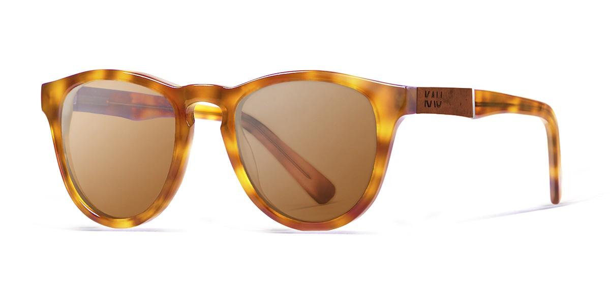 Florencia brown tortoise polarized sunglasses front