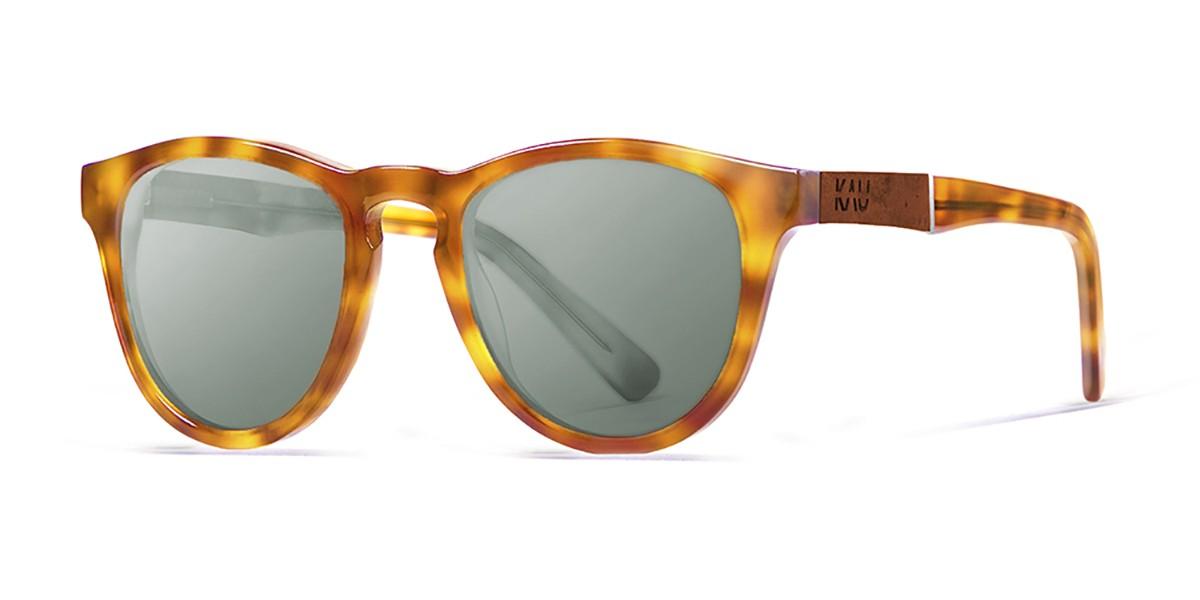 Florencia brown tortoise oliver lens polarized sunglasses front