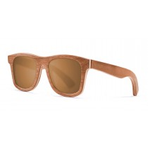 Miami brown skate wood polarized sunglasses front