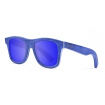 Miami blue skate wood polarized sunglasses front