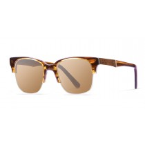 BUENOS AIRES brown wooden frame  polarized  sunglasses Kauoptics front