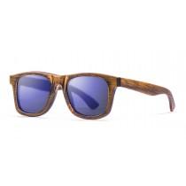 DF natural bamboo frame  polarized  sunglasses Kauoptics front