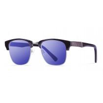 SHANGAY SHINY BLACK REVO BLUE LENS