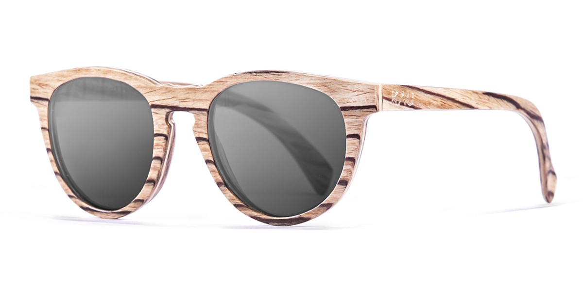 Berlin natural polarized wooden sunglasses side