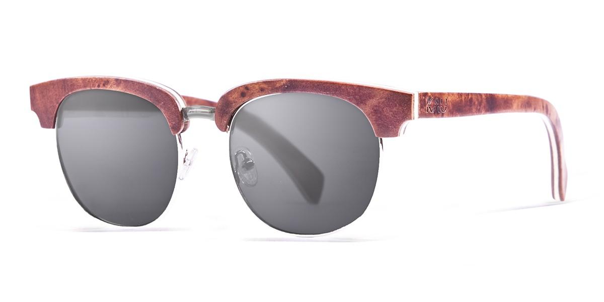 NEW YORK  natural wooden frame  polarized  sunglasses Kauoptics side