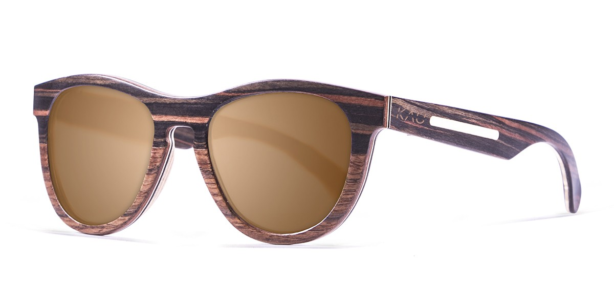 Quebec brown lens wooden polarized sunglasses