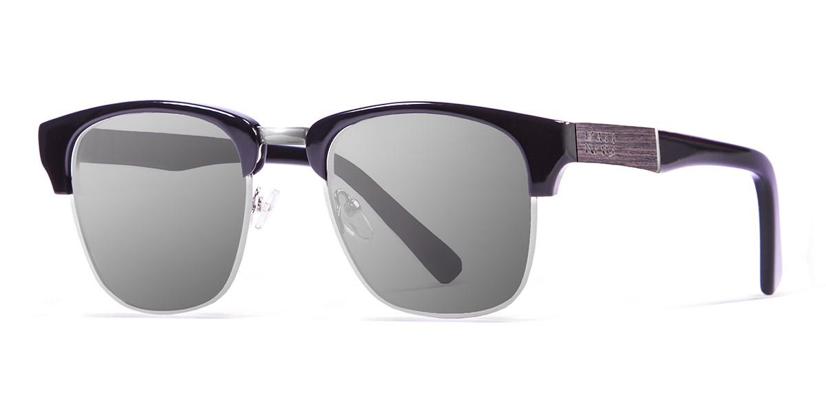 Shangay shiny black polarized sunglasses side