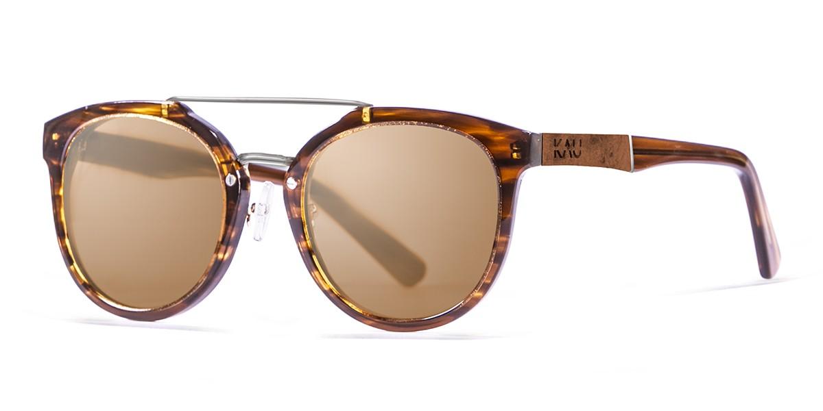 San Francisco Acetate polarized brown frame sunglasses Kauoptics front