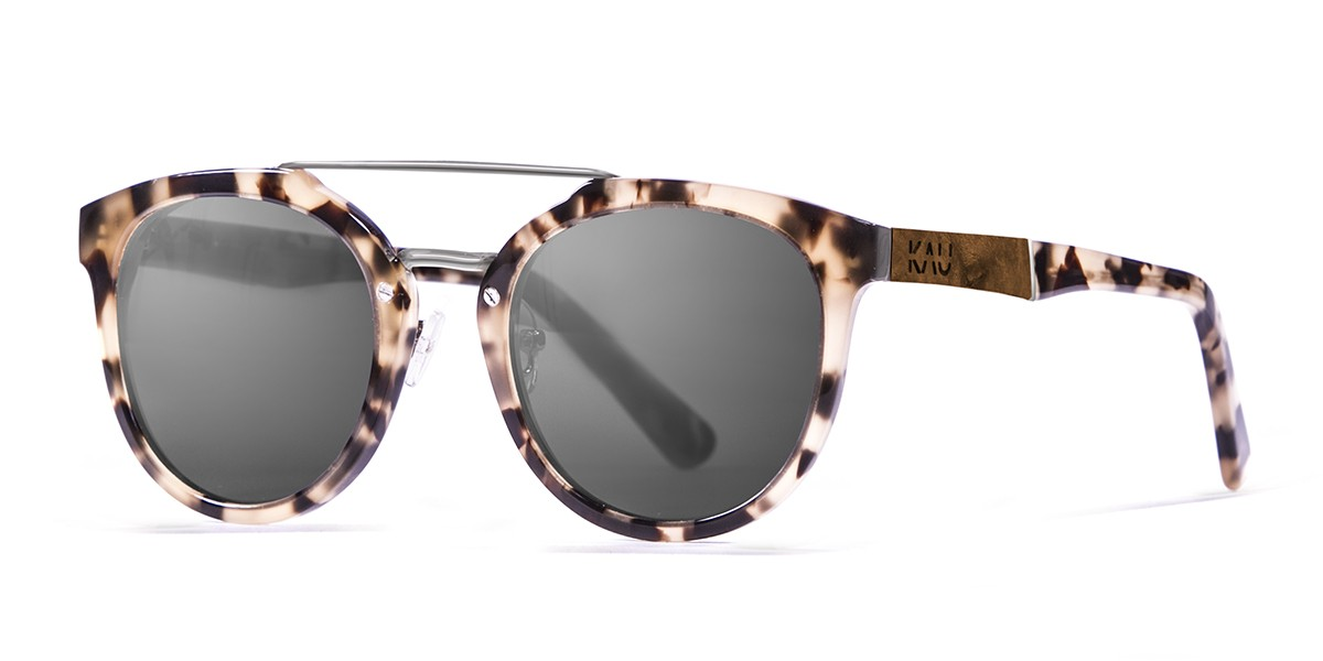 San Francisco Acetate polarized carey frame sunglasses Kauoptics side
