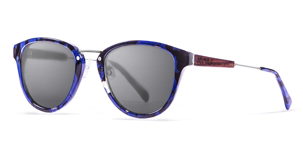 VENECIA blue tortoise polarized sunglasses front